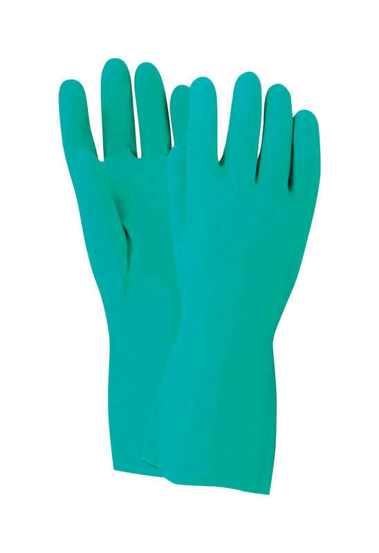 Handmaster  Unisex  Indoor/Outdoor  Nitrile  Chemical  Safety Gloves  Green  S