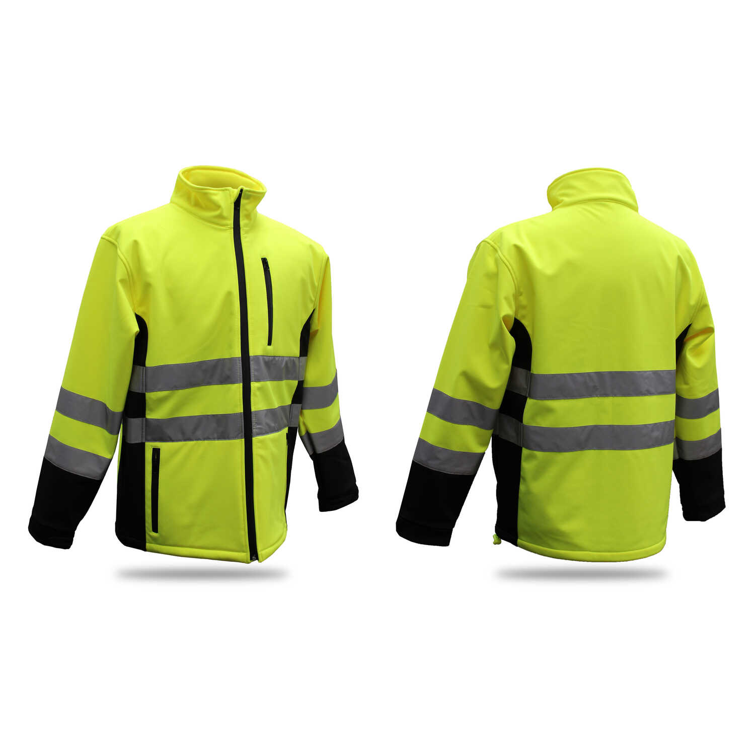 Boss  Hi-Vis  Yellow  Polyester  Rain Jacket