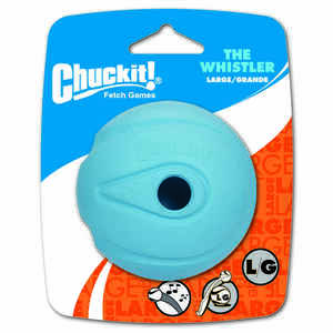 Chuckit!  Blue  Whistler  Rubber  Dog Toy  Large