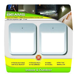Mr. Beams  White  Battery Powered  LED  Puck Light  2 pk