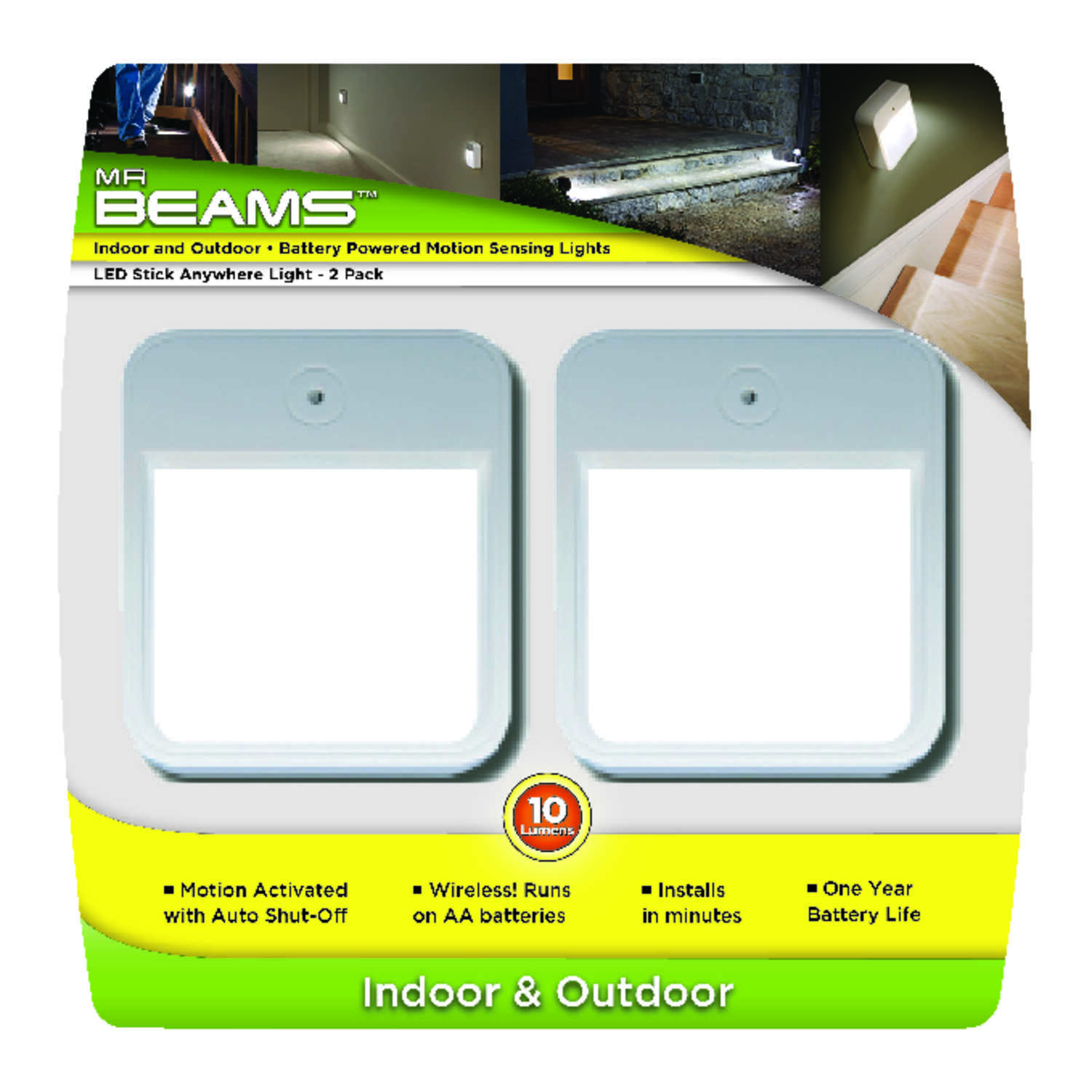 Mr Beams White Battery Powered Led Puck Light 2 Pk Ace Hardware Emergency Lamp Protector