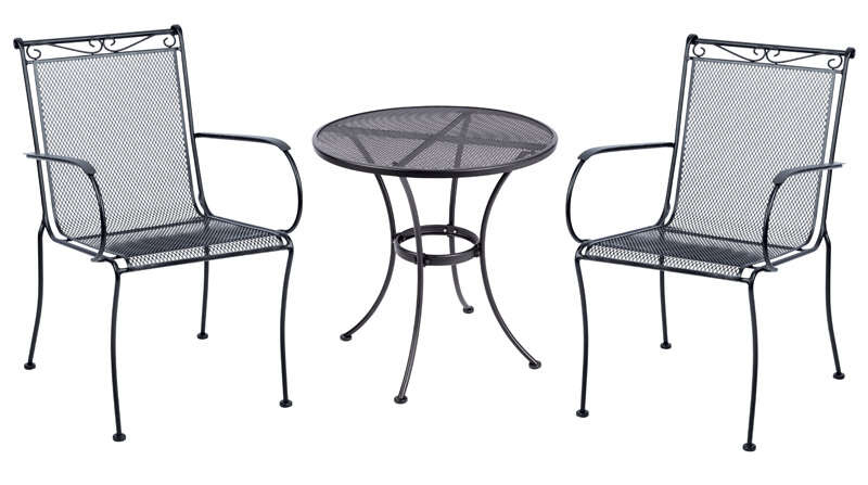 Living Accents  Black  Winston  Table  Round