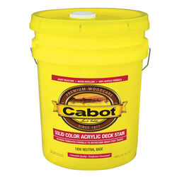 Cabot  Solid  Tintable 1806 Neutral Base  Water-Based  Acrylic  Deck Stain  5 gal.