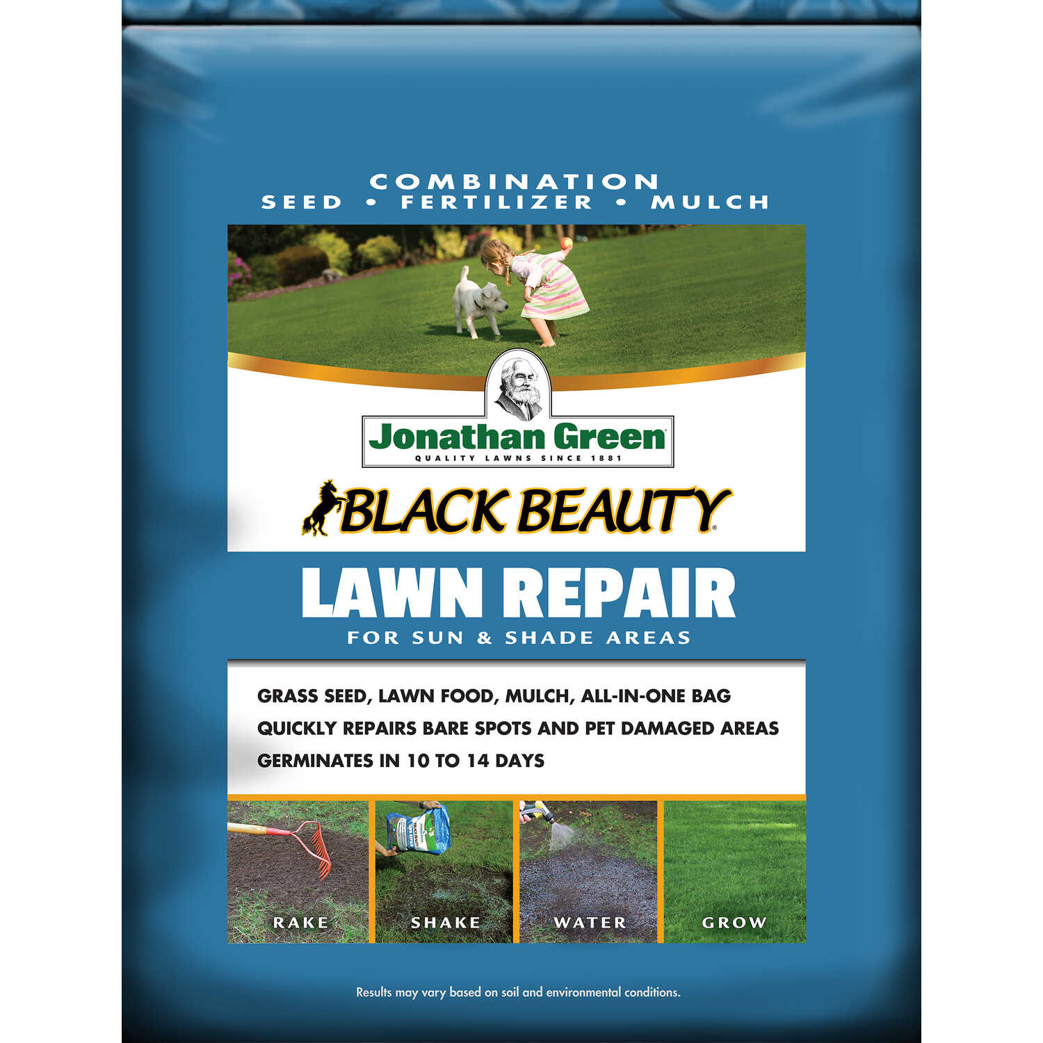Jonathan Green  Lawn Repair  Mixed  Seed, Mulch & Fertilizer  4.5 lb.