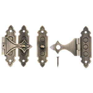 Ace  Antique  Brass  1.4 in. L x 0.9 in. W Decorative Catch  2 pk 1.4 in.