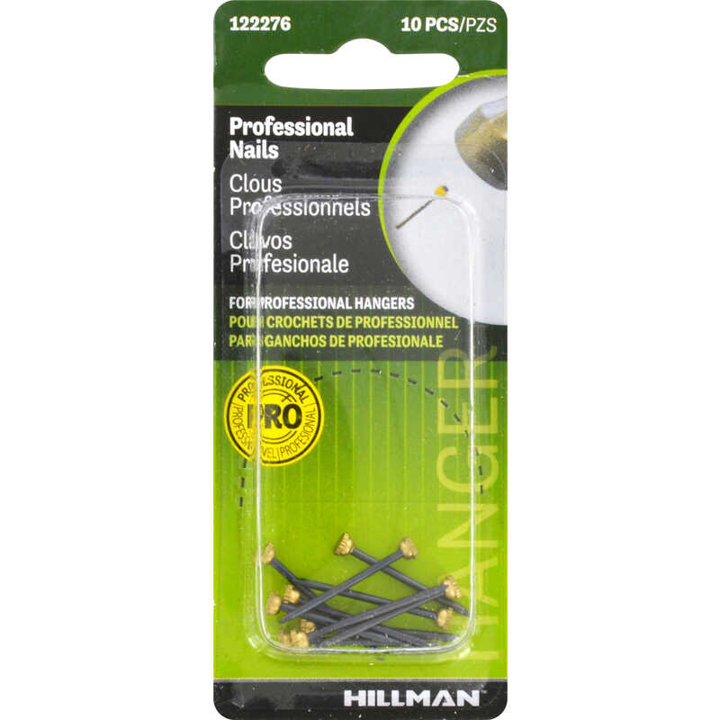 Hillman  AnchorWire  Steel-Plated  Classic  Picture Hanging Nails  10 pk Steel