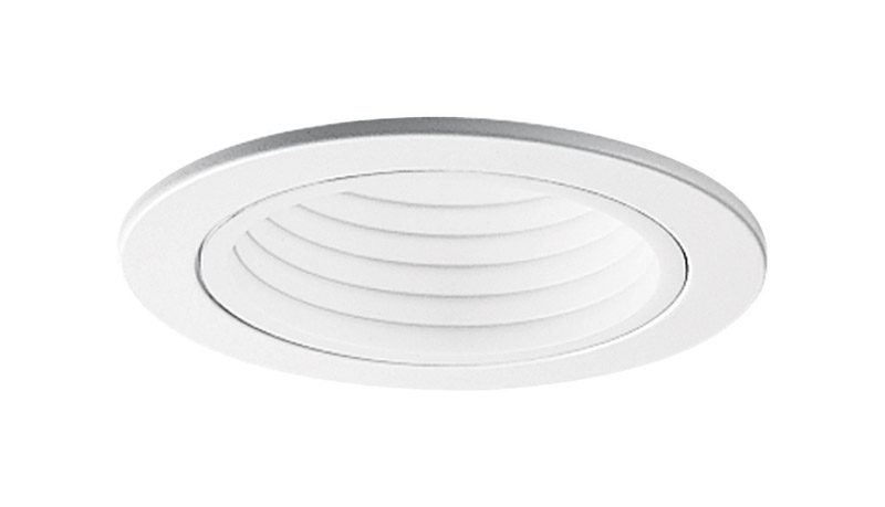Halo  White  4 in. W Gloss  Baffle Trim  Plastic