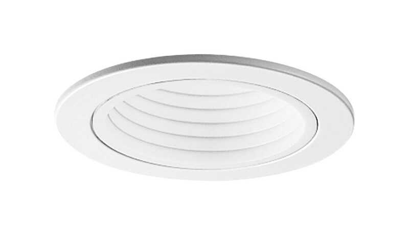Halo  Gloss  White  4 in. W Plastic  Baffle Trim