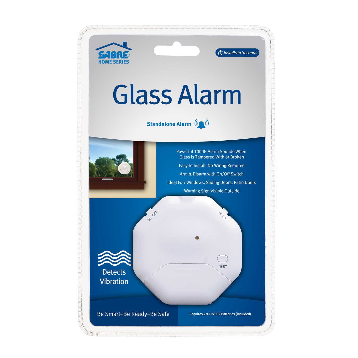 Sabre  White  Plastic  Window Alarm