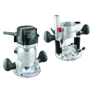 Craftsman Fixed/Plunge Base Router Combo  2 hp 25,000 rpm 12 Amp 1/4 in. and 1/2 in.