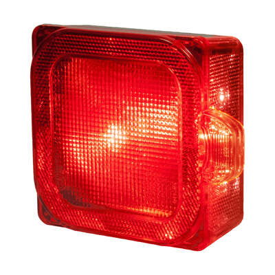 Peterson  Red  Square  Stop/Tail/Turn  Light