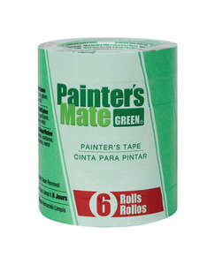 Painter's Mate  0.94 in. W x 60 yd. L Green  Medium Strength  Painter's Tape  6 pk