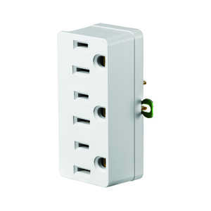 Leviton  Grounded  3 outlets 1 pk Adapter  Surge Protection