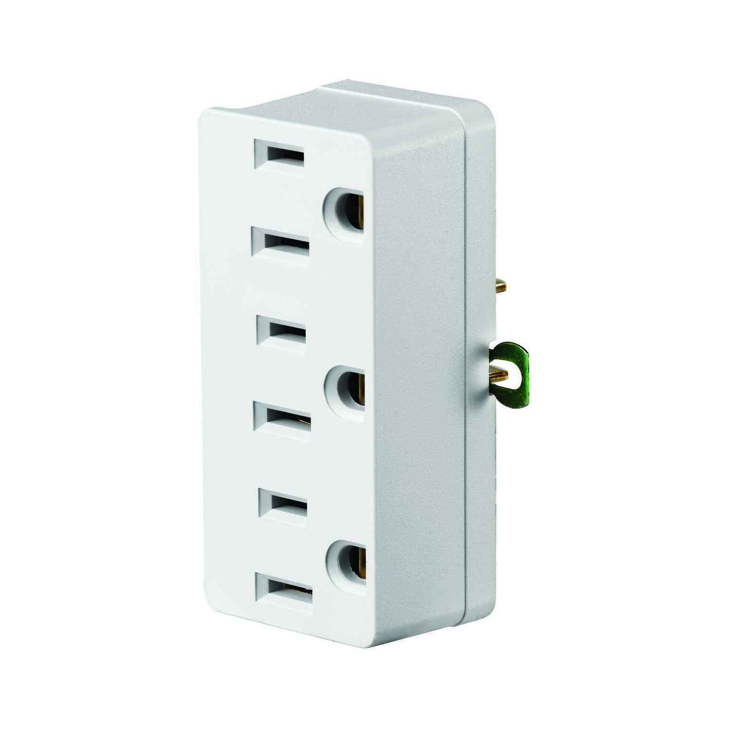 Leviton  Grounded  3 outlets Adapter  1 pk