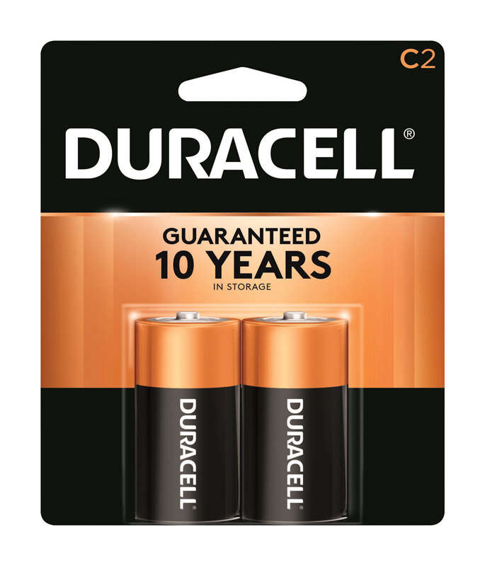 Duracell  Coppertop  C  Alkaline  Batteries  2 pk Carded