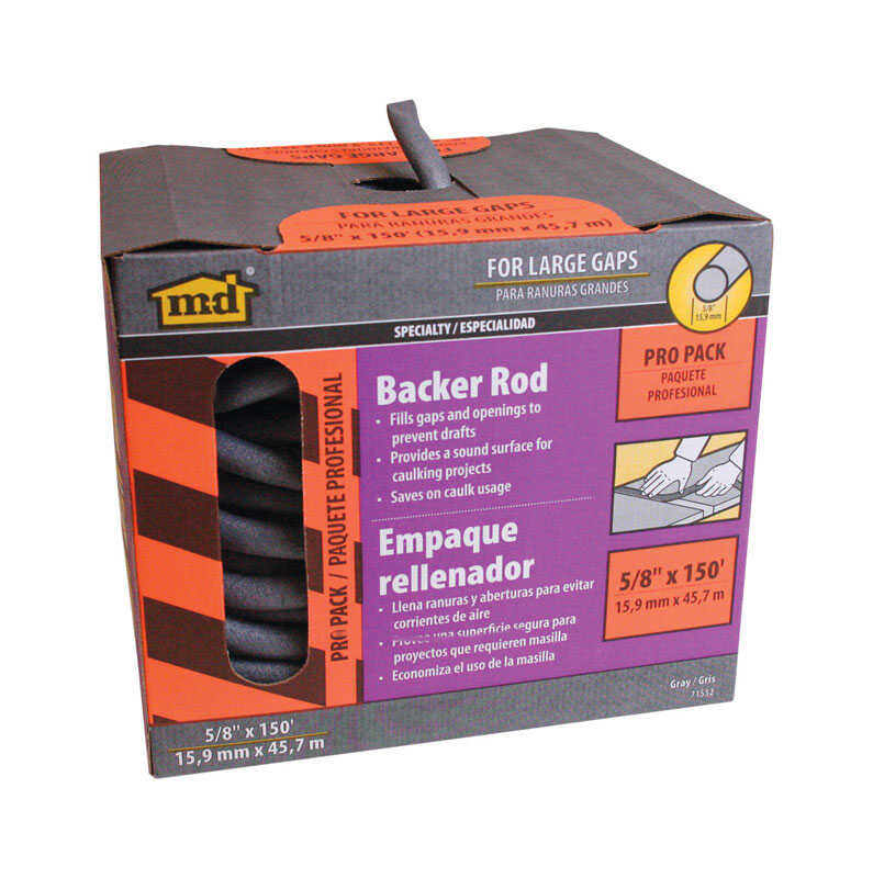M-D Building Products  Gray  Foam  Caulk Backer Rod  For Door and Window 150 ft. L x 5/8 in.