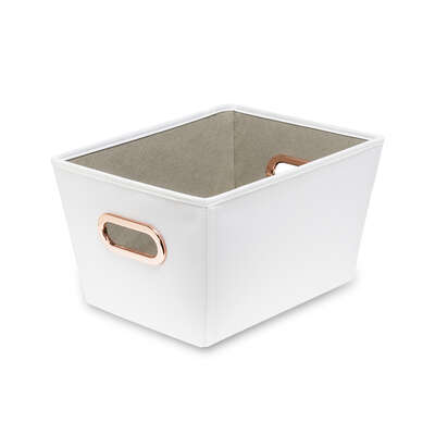 Honey Can Do  7-9/16 in. H x 9-13/16 in. W x 13 in. D Tote Bin