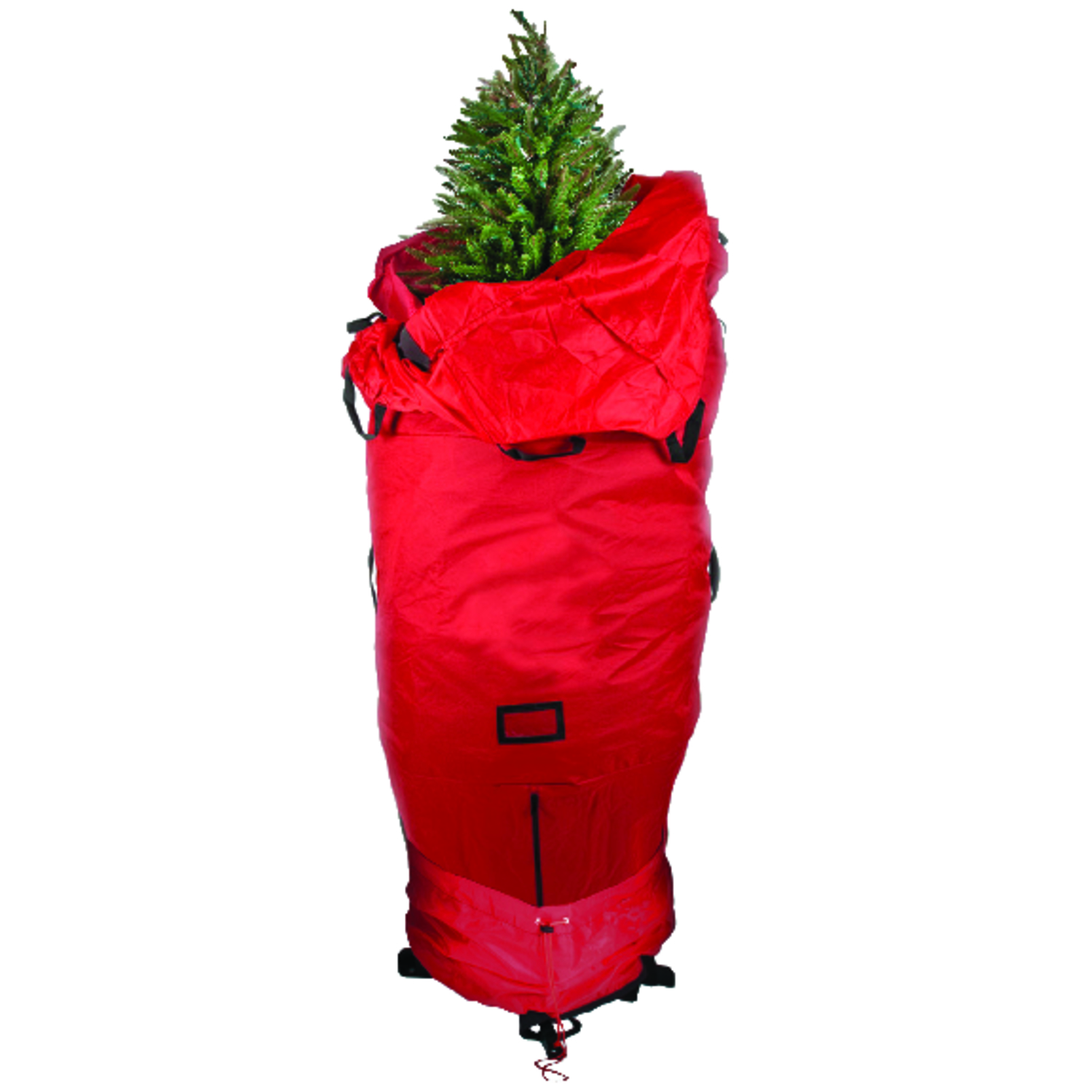 The easiest way to store your artificial tree! Simply attach to your existing tree stand like a tree skirt and enjoy your tree for the season! After the holidays are over, open the skirt, pull up and compress, and the tree is ready for storage in minutes!