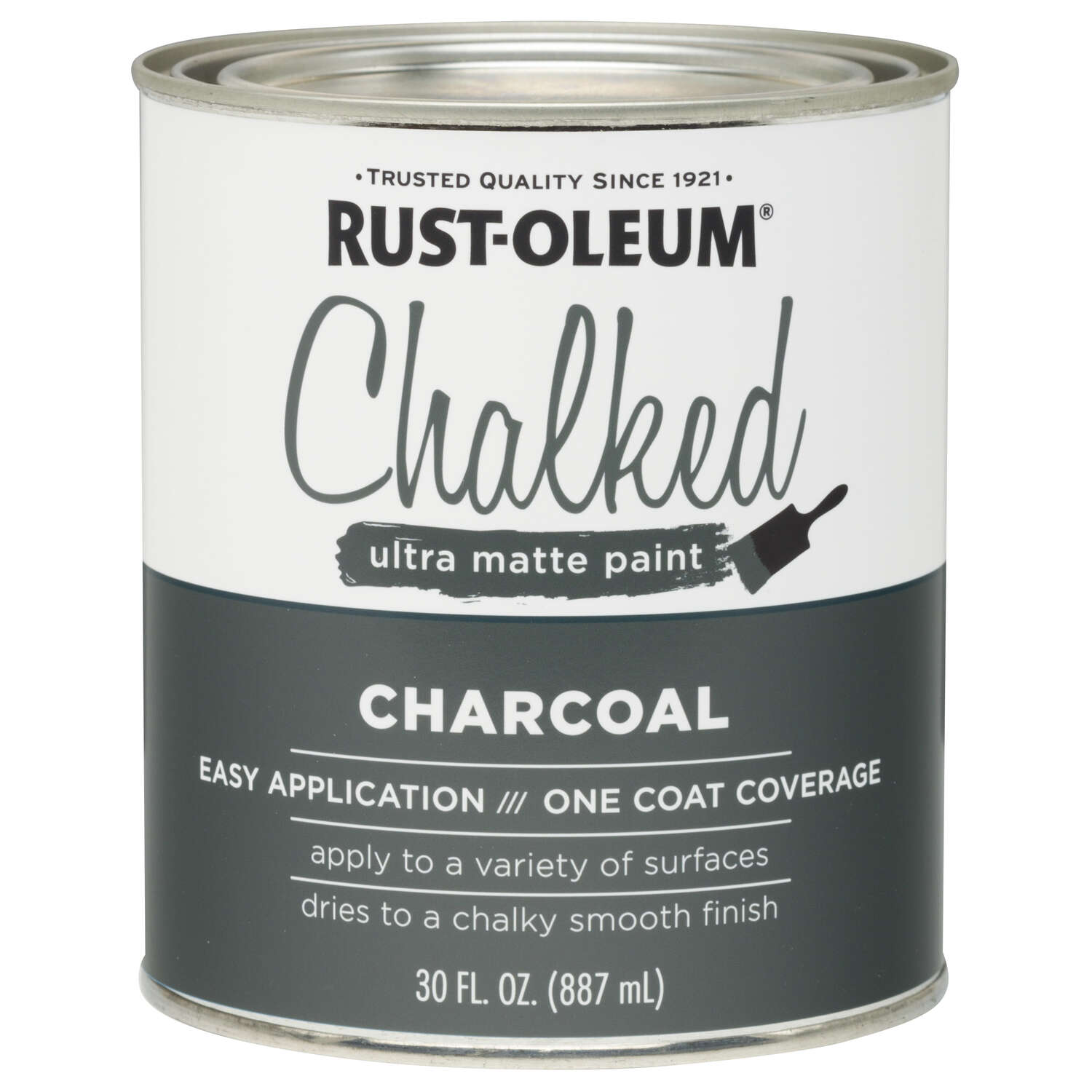 Rust-Oleum  Chalked  Ultra Matte  Charcoal  Water-Based  Acrylic  Chalk Paint  30 oz.