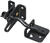 National Hardware  Black  Steel  Automatic  Gate Latch