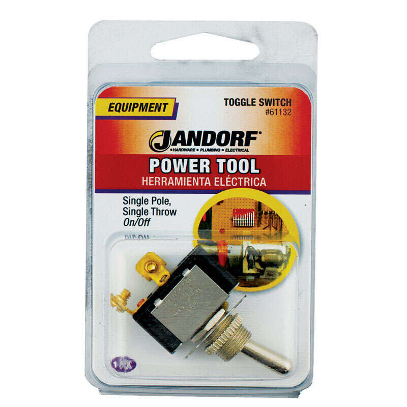 Jandorf  20 amps Single Pole  Toggle  1  Power Tool Switch  Silver