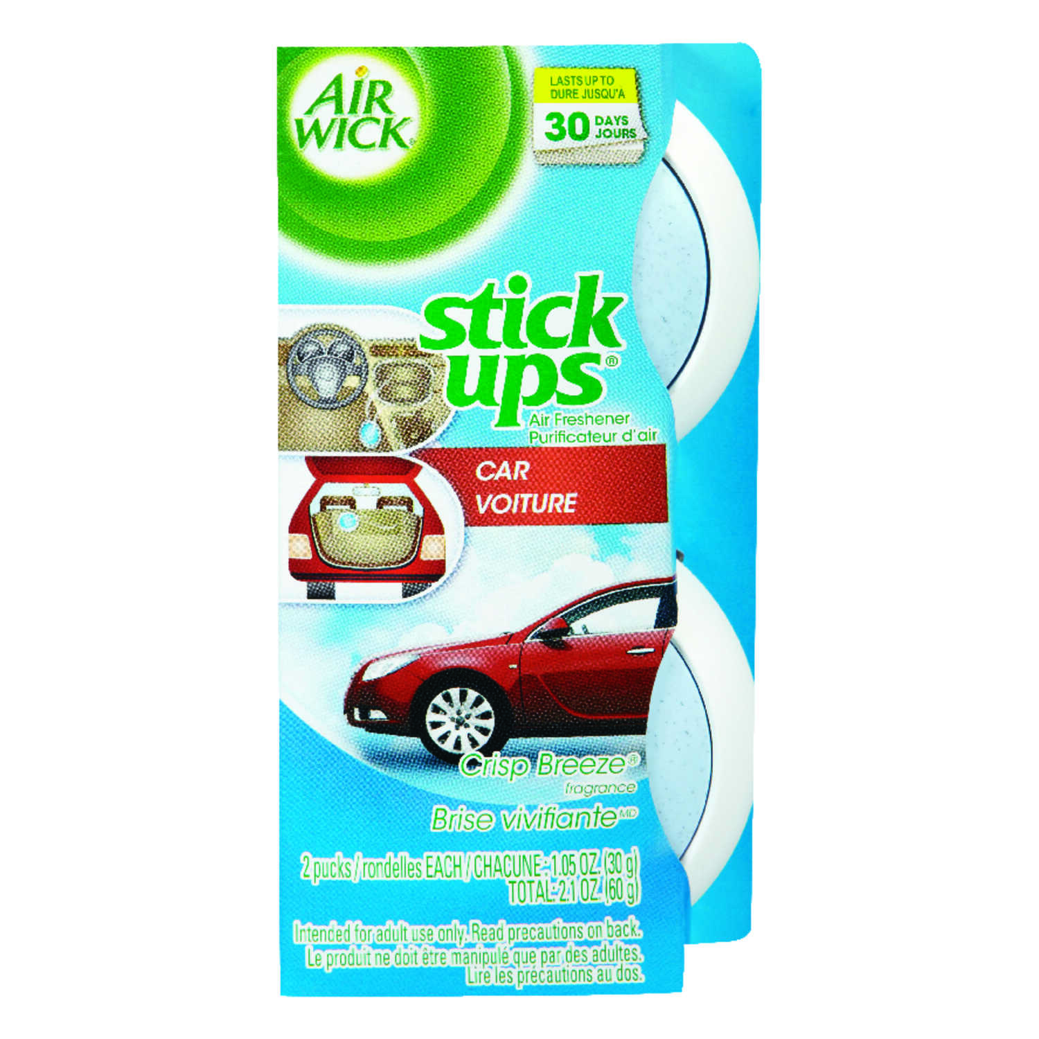 Air Wick  Stick Ups  Crisp Breeze Scent Air Freshener  2.1 oz. Solid