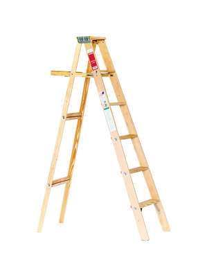 Michigan Ladder 72 in. H Wood Step Ladder Type III 200 lb.