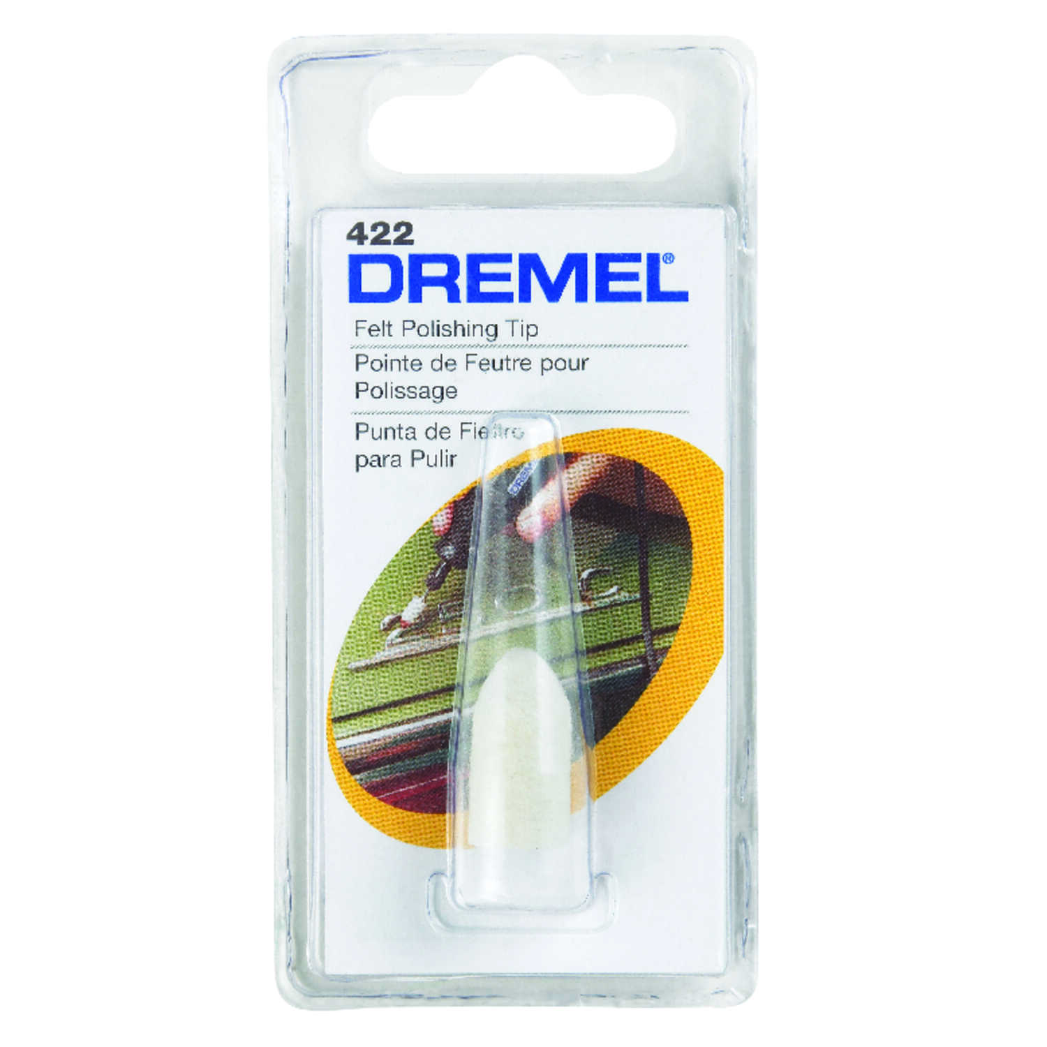 Dremel  3/8 in   x 1 in. L x 3/8 in. Dia. Felt Polishing Tip  1 pk Metal