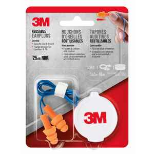 3M  25 dB Ear Plugs  Orange  1 pk PVC
