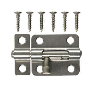Ace Heavy Duty Barrel Bolt 2-1/2 in. Stainless Steel Latches Doors and Cages