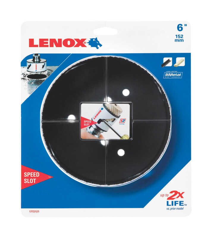 Lenox  Speed Slot  6 in. Dia. x 1.5 in. L Bi-Metal  Hole Saw  1/2 in. 1 pc.
