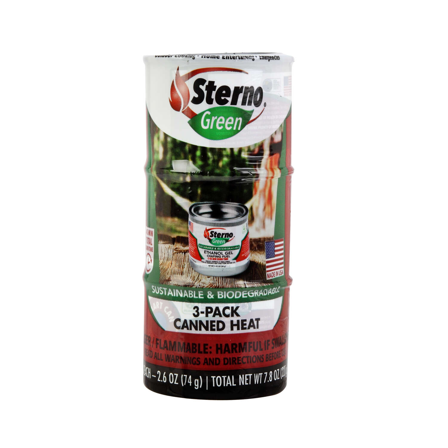 Sterno Cooking Fuel 5.68 in. H x 2.50 in. W x 2.50 in. L 7.8 oz. 3 pk
