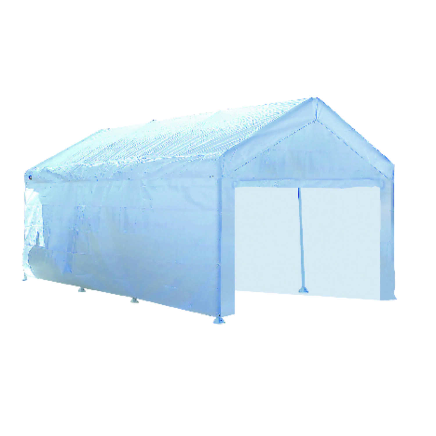 Quik Shade  Moto Shade  Polyethylene  Carport Canopy Wall Panels Kit  10 ft. W x 20 ft. L