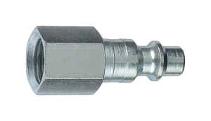 Tru-Flate  Steel  1/4 in. I/M Style  Plug  3/8 in. Female  1 pc.