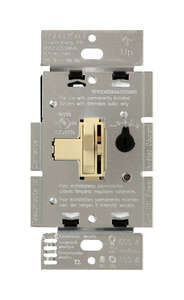 Lutron  Toggler  150 watts 3-Way  Ivory  Dimmer Switch