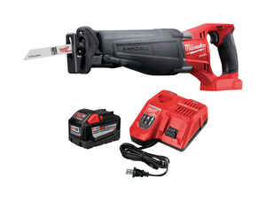 Milwaukee  M18 9.0HD FUEL  1-1/8 in. Cordless  18 volt 3000 spm Kit Reciprocating Saw  9 amps