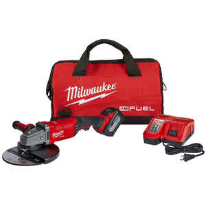 Milwaukee  M18 FUEL  Cordless  18 volt 7 to 9 in. Large Angle Grinder  Kit  Trigger  6600 rpm