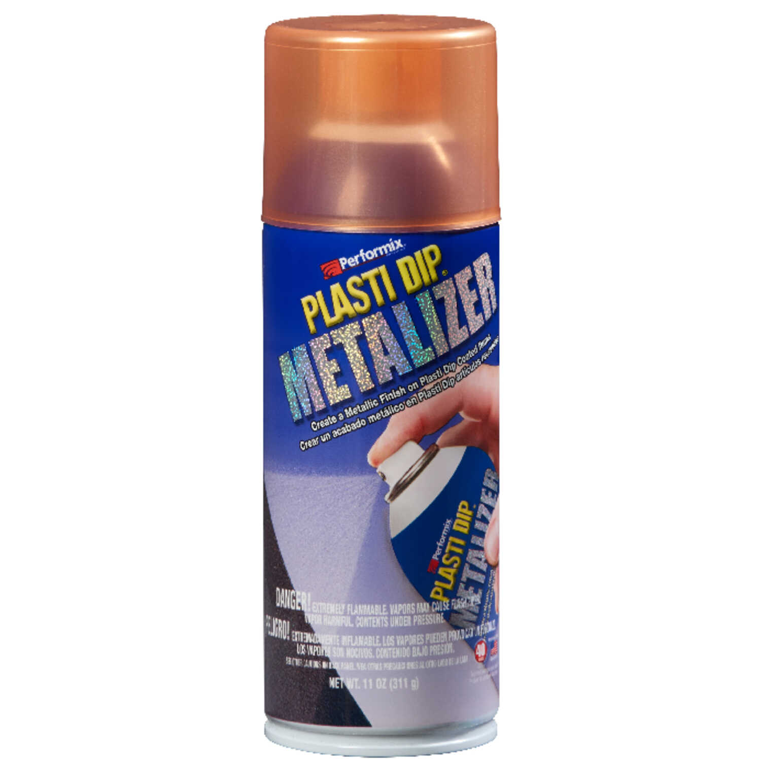 Plasti Dip  Metalizer  Satin  Copper  Multi-Purpose Rubber Coating  11 oz