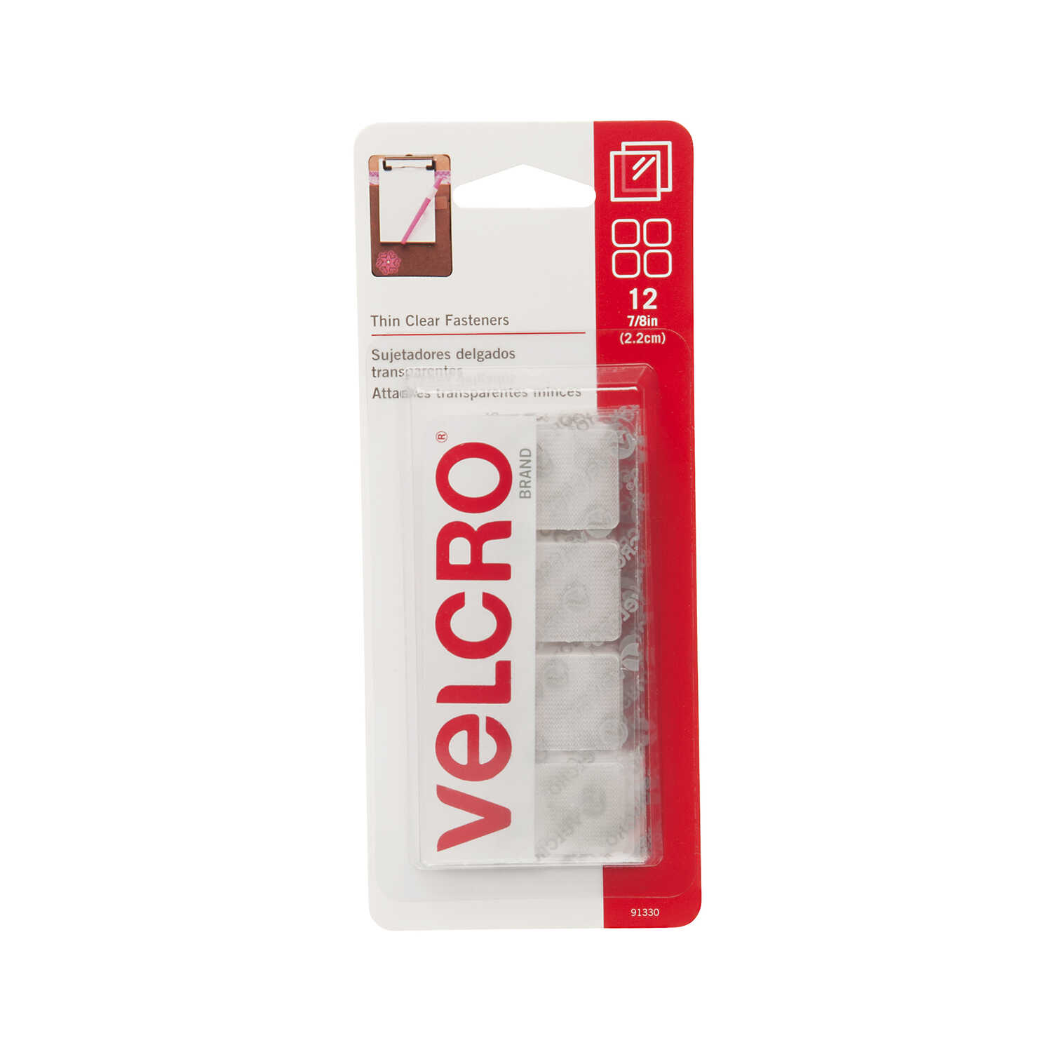 Velcro  7/8 in. L Hook and Loop Fastener  12 pk