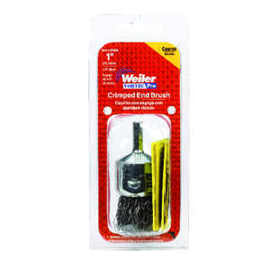 Weiler  1 in. Crimped  Wire Wheel Brush  Carbon Steel  22000 rpm 1 pc.