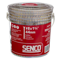 Senco  DuraSpin  No. 8   x 1-3/4 in. L Square  Yellow Zinc-Plated  Wood Screws  1000 pk