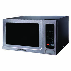 Black and Decker  1.4 cu. ft. Silver  Microwave  1000 watts