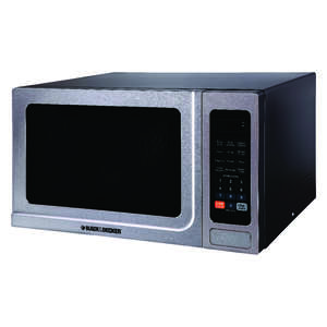 Black  Decker  1.4 cu. ft. Silver  Microwave  1000 watts