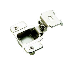 Amerock  2-5/16 in. W x 2-5/8 in. L Nickel  Steel  Matrix Concealed Hinge  2 pk