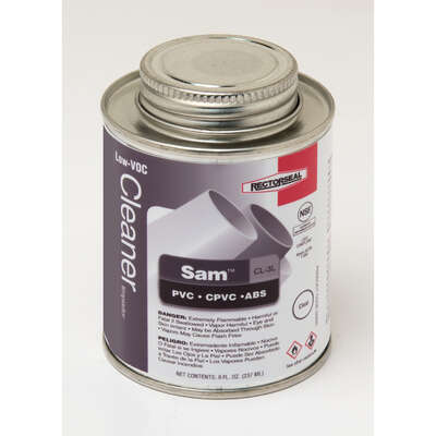 Rectorseal Sam Clear Cleaner For ABS/CPVC/PVC 8 oz.