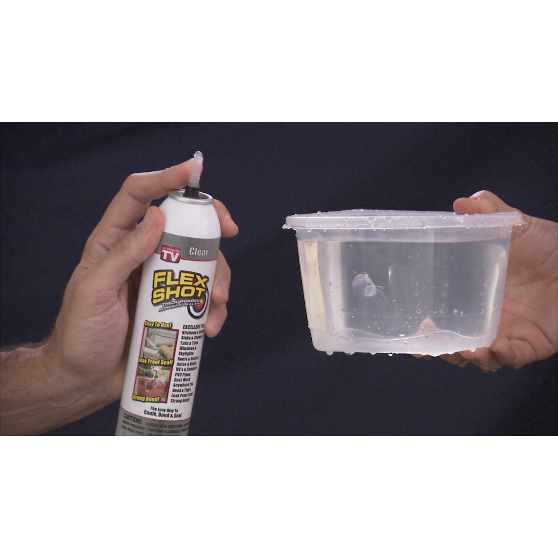 Flex Shot White Acrylic Rubber All Purpose Sealant 8 oz Can