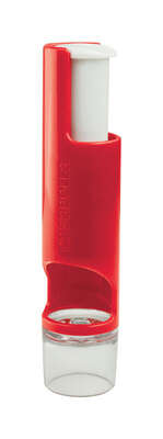 Casabella  Red  Plastic/Stainless Steel  Cherry Pitter