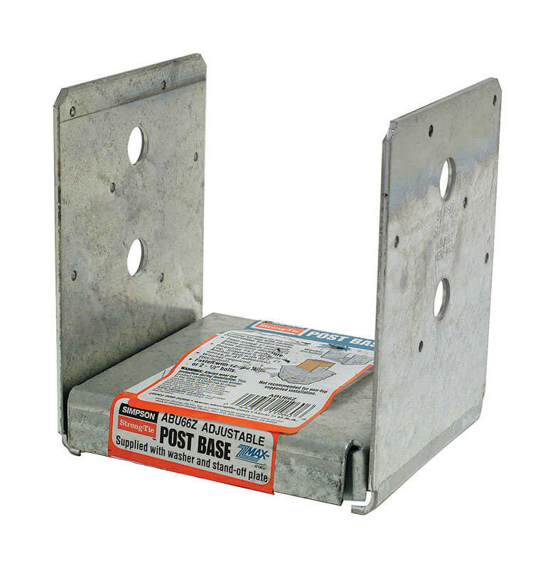 Simpson Strong-Tie  5 in. H x 5.5 in. W 12 Ga. Post Base  Galvanized Steel