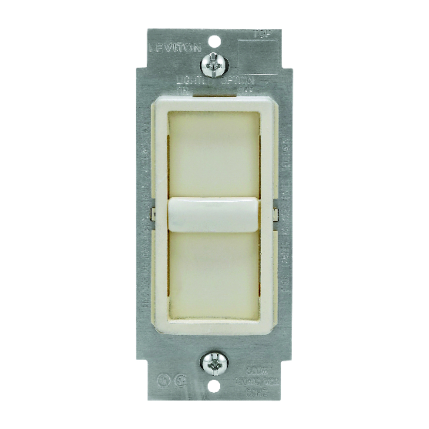 Leviton  Light Almond  150 watts Slide  Dimmer Switch  1 pk