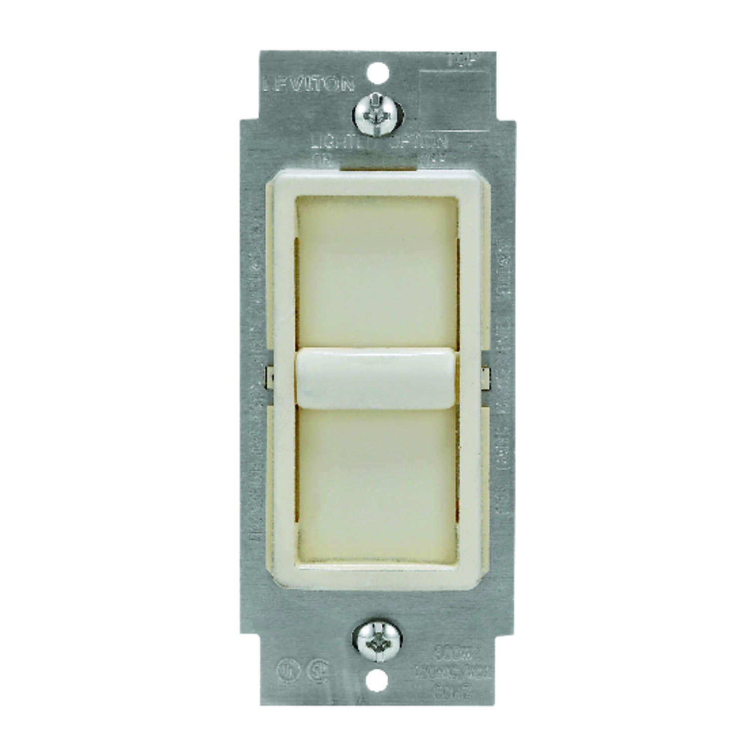 Leviton  Decora SureSlide  Light Almond  600 watt Slide  Dimmer Switch  1 pk